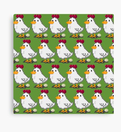 Pixel Chickens Canvas Print