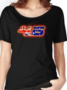 AUS - Australia Flag Logo - Glowing Women's Relaxed Fit T-Shirt