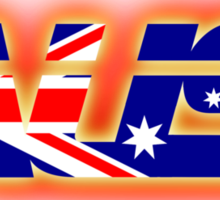 AUS - Australia Flag Logo - Glowing Sticker