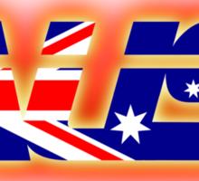 AUS - Australia Flag Logo - Glowing Sticker