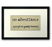 no admittance Framed Print