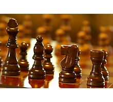 Wooden Chess Pieces Photographic Print