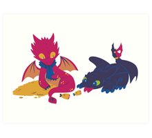 How to train your dragon! Art Print