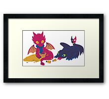 How to train your dragon! Framed Print