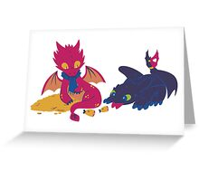 How to train your dragon! Greeting Card