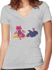 How to train your dragon! Women's Fitted V-Neck T-Shirt