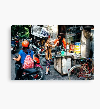 Street Food Hanoi Canvas Print