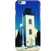 Early Spring thaw at Sand Point Light-Escanaba, Michigan iPhone Case/Skin
