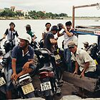 Motorbike Ferry, Hoi An by Oliver Winter