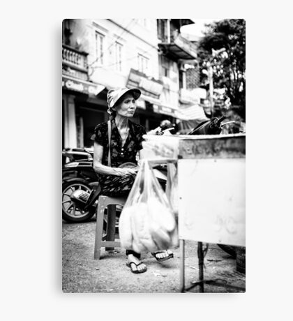 Local Lady in Hanoi Canvas Print
