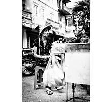 Local Lady in Hanoi Photographic Print