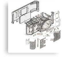 Nikon f3 camera blueprint Canvas Print