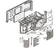 Nikon f3 camera blueprint Photographic Print