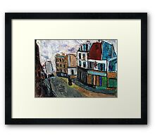 City Square(after Utrillo) Framed Print