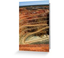 Cobar Gold Mine Greeting Card