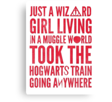 Small Town Wizard - Journey Mashup Canvas Print