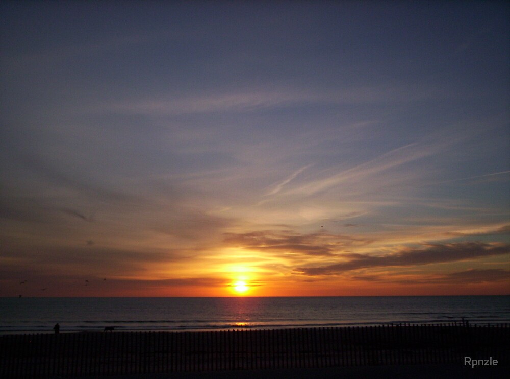 Sunrise Over Seabrook Beach by Rpnzle