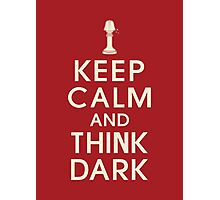 Think dark Photographic Print