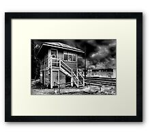 The answer my friends is just blowing in the wind... Framed Print