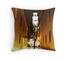 Night in the Old town Kaunas Throw Pillow
