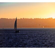 Sailboat Sunset by Frank Brown