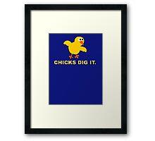 Chicks dig it Framed Print