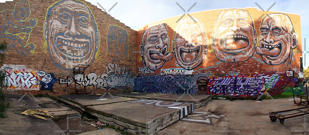 Graffiti panoramic by JHP Unique and Beautiful Images