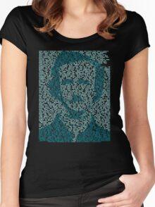 Edgar Allen Poe - The Raven Poem Retro T Shirt Women's Fitted Scoop T-Shirt