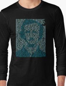 Edgar Allen Poe - The Raven Poem Retro T Shirt Long Sleeve T-Shirt