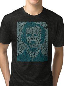 Edgar Allen Poe - The Raven Poem Retro T Shirt Tri-blend T-Shirt