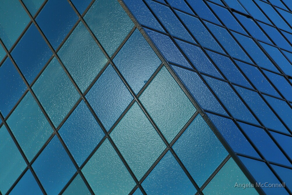 Blue Cube by Angela McConnell