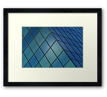 Blue Cube Framed Print