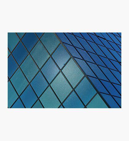Blue Cube Photographic Print