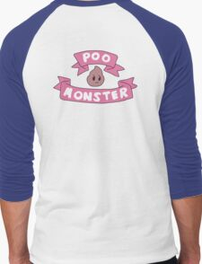 Poo monster Men's Baseball ¾ T-Shirt