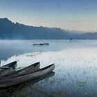 Misty Morning, Lake Tamblingan by Hicksy