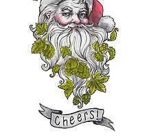 Craft Beer Santa - Cheers! by Sara Wilson