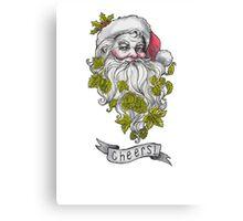 Craft Beer Santa - Cheers! Canvas Print