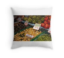 Hedgehog Mushrooms Throw Pillow