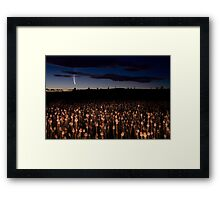 Comet McNaught Framed Print