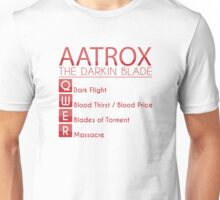 Champion Aatrox Skill Set In Red Unisex T-Shirt