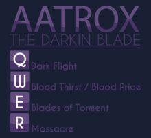 Champion Aatrox Skill Set In Purple by SpiritRush