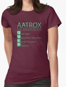 Champion Aatrox Skill Set In Green Womens Fitted T-Shirt