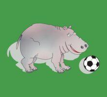 Hippo with Football Kids Tee