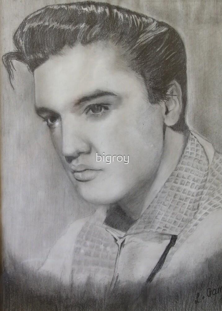 Drawing of Elvis by bigroy