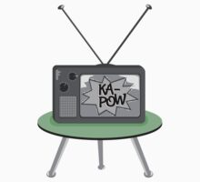 Ka-Pow Black and White Television by piedaydesigns