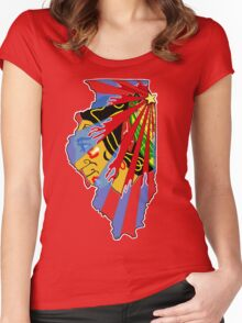 Illinois Blackhawks Women's Fitted Scoop T-Shirt