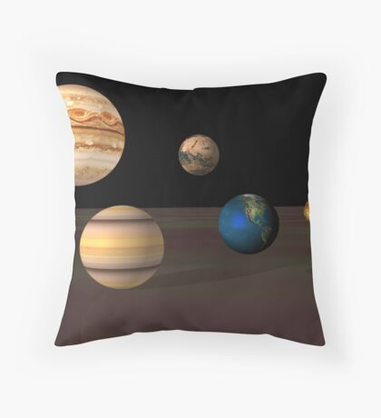 Spheres of the ancients in 3d Throw Pillow