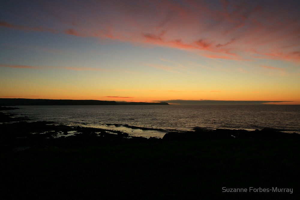 Sunset over North Sea by Suzanne Forbes-Murray