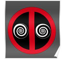 Hypnotized Deadpool Icon  Poster