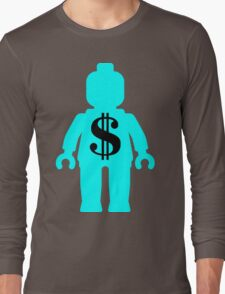 Minifig with Dollar Symbol Long Sleeve T-Shirt